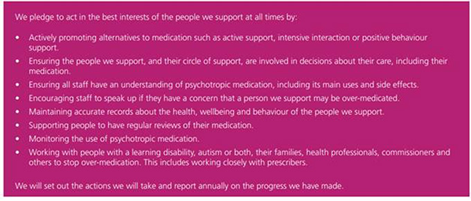learning disability care home STOMP Pledge for Social Care